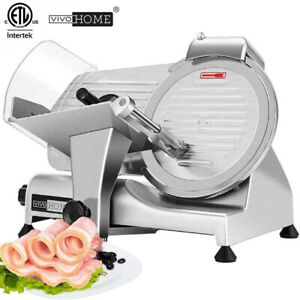 Vivohome Commercial Electric Meat Slicer 10 Blade 320w Deli Food Cutter 0 10mm