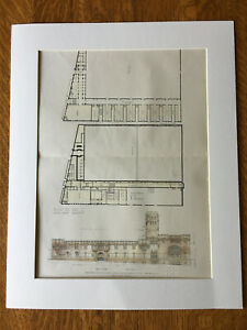 Armory For Squadron C National Guard Brooklyn Ny 1906 Hand Colored Original