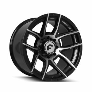 22 Forgiato Flow Terra 001 Black Forged Concave Wheels Rims Fit Ford Expedition