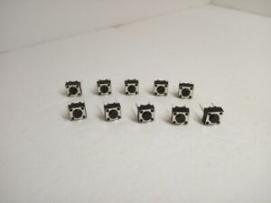 10x Pack Lot 6 X 6 X 4 3 Mm 2 Pins Push Touch Momentary Micro Button Switch Dip