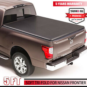 For 2017 2019 Nissan Frontier Pickup 5ft Short Bed Trunk Tri fold Tonneau Cover