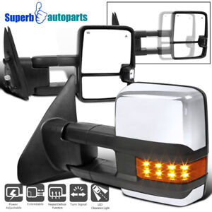 For 2007 2017 Toyota Tundra Power Heated Blins Spot Tow Mirrors W led Signals