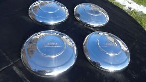Vintage Amphicar Hubcaps Original Oem Set Of 4