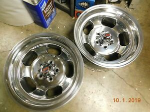 Rare Indy 14 X 7 Slot Mag Wheels 5 On 4 Dart Barracuda Mopar Plymouth Duster
