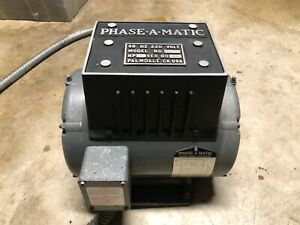 Used Phase a matic R 3 Rotary Phase Converter 3 Hp 208 240v California
