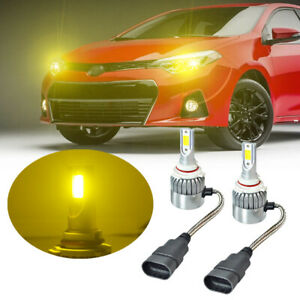 9005 Led Headlight Bulb Kit For Toyota Corolla 1993 2016 2pcs High Beam Yellow