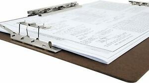 11x17 17 X 11 Inches Hardboard clipboard With 8 inch Hinge And Mousetrap Clip B