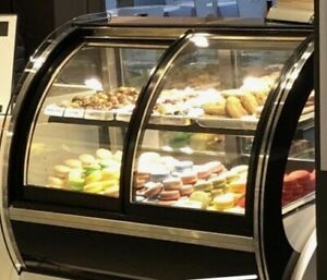 Open Box Commercial Countertop Refrigerated Cake Bakery Display Case Cabinet