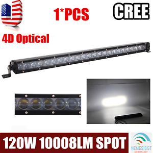 Slim 25inch 120w Curved Single Row Led Light Bar Car Atv Ute Rzr Combo Boat Lamp