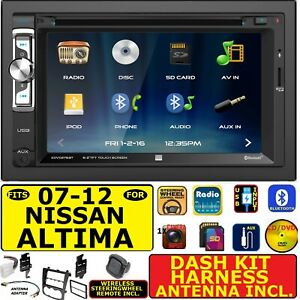 Fits 2007 2012 Nissan Altima Cd Dvd Bluetooth Usb Sd Aux Car Stereo Package