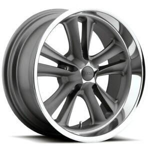 Staggered Foose F099 Knuckle 18x8 18x9 5 5x4 75 1mm Textured Gray Wheels Rims