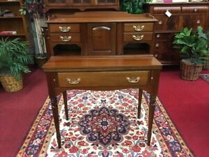 Statton Trutype Cherry Desk Flip Top Secretary Delivery Available