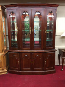 Colonial Furniture Lighted China Cabinet Touch Light Delivery Available