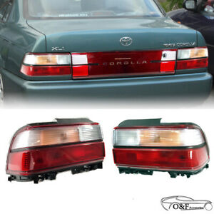 For 1993 1997 Toyota Corolla Ae100 Ae102 Rear Tail Brake Lights Lh Rh Set