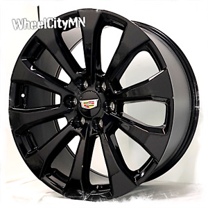 22 Inch Gloss Black 2019 High Country Oe Replica Wheels Cadillac Escalade 6x5 5