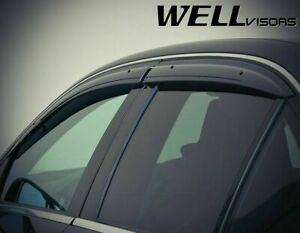 Wellvisors Side Window Visors Deflector For 08 14 Mercedes Benz W204 C Class 4dr