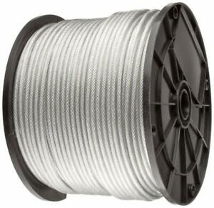 Vinyl Coated Stainless Steel 304 Cable Wire Rope 7x7 Clear 3 64 1 16