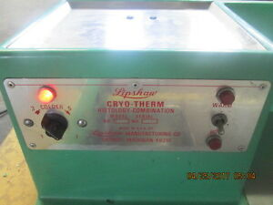 Lipshaw Cryo therm Histology combination Model 1555_powers On_rarity Item_as is