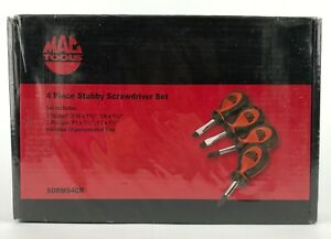 New Mac Tools 4 Pc Stubby Screwdriver Set Ergo 1 1 2 Slotted Phillips Tray Lot