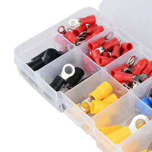 102x Insulated Ring Crimp Terminals Electrical Wire Connector Assorted Kits