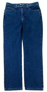 Lee Womens Classic Fit At The Waist Straight Leg Denim Jeans Size 10