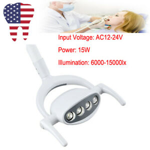 Portable Dental 4 Led Lamp Oral Cold Light For Dental Chair Unit 15w Usa Fda