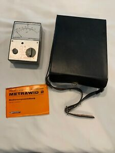 Metrawatt Metrawid 2 Ohm Meter With Box Vintage Tool Untested