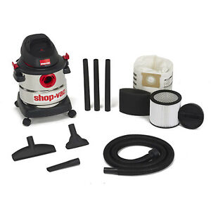 Shop Vac Stainless Steel 5g Wet Dry Vacuum Floor Cleaner Blower open Box
