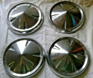 Vintage Plymouth Dog Dish Hubcaps