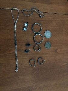 Scrap Silver Lot Sterling 925 And Us Coins