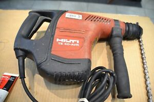 Hilti Te 40 avr Corded Rotary Hammer Drill With Case And Bit
