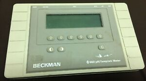 Beckman Coulter 660 Ph temp mv Meter Used No Cables