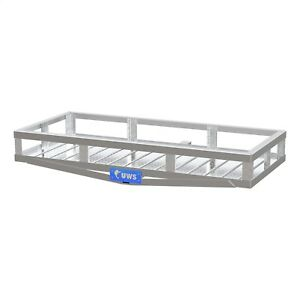 Uws 51in X 23in Receiver Hitch Mounted Cargo Carrier Bright Aluminum