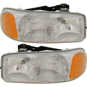 15850352 15850351 Gm2502188 Gm2503188 Headlight Lamp Left And Right For Yukon