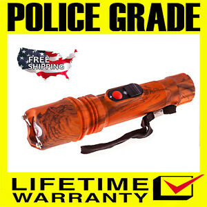 Police Stun Gun Sf786 189 Bv Max Power Rechargeable With Ultra Bright Flashlight