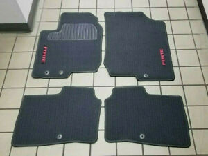 2009 2013 Kia Forte 4pc Floormat Set 4dr Only Black W red Logo 1mf14 ac700 Oem