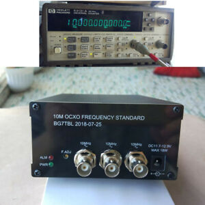 1pc 10mhz Ocxo Frequency Standard Reference 2 ch Sine Wave 1 ch Square Wave New