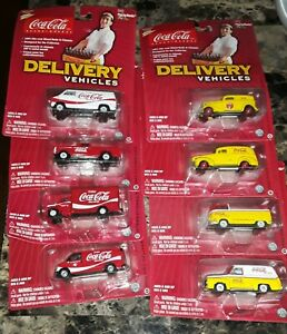 COCA-COLA / JOHNNY LIGHTNING DIE-CAST DELIVERY VEHICLES lot of 8 from 2004