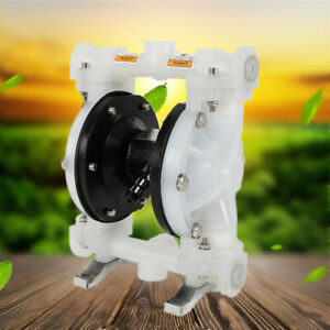 Air operated Double Membrane Diaphragm Pump For Industrial Use Waste Oil White