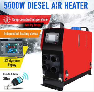 12v 5kw Air Diesel Heater 4 Hole All In One Lcd Monitor For Car Trucks Boats Bus