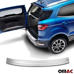 Fits Ford Ecosport 2018 2020 Chrome Rear Bumper Guard Trunk Sill Protector Steel