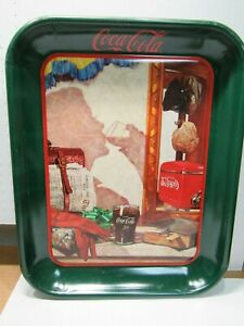1993 Coca Cola Coke Tray Reflections In The Mirror Christmas