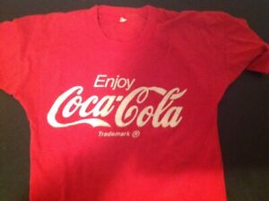 Vintage Coca Cola T Shirt 50/50 Blend Screen Stars Tag