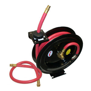 3 8 X 25 Inch Retractable Air Hose Reel Wall Truck Mount 300 Psi