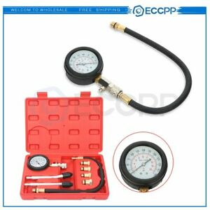 Car Bicycle Diesel Engine Cylinder Compression Pressure Tester Gauge Test Kit