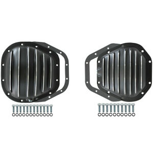 Ford Super Duty F 250 F 350 Excursion 4x4 Black Aluminum Differential Cover Kit
