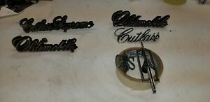 1970 1971 1972 Oldsmobile Cutlass Emblems Oem Supreme Hood Grill Cs Roof Pillar