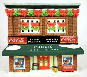 2000 Coca-Cola Town Square Collection Lighted Christmas Publix Food Store