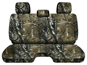Designcovers Camo Woods Fits 05 15toyota Tacoma Front Bench W 3headrests