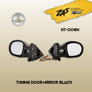 2pcs Black Universal Classic Car Door Wing Side View Mirror Replacement